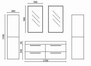 meuble salle de bain doubles vasques ortense mobilier moss With dimension meuble salle de bain double vasque