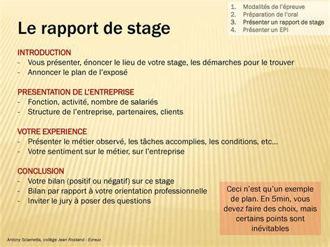 rapport de stage cuisine collective conseils pour l exposé ppt télécharger