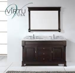 60 inch double sink bathroom vanity set with matching