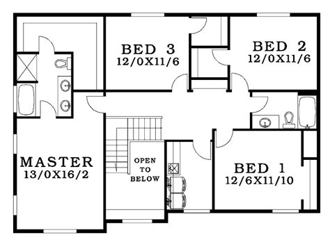 Four Bedroom House Plans Small 4 Bedroom House Plans Free