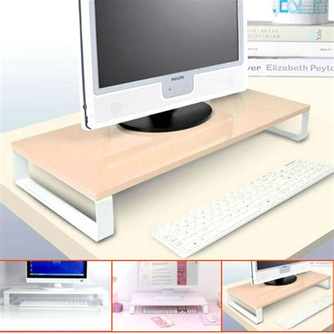 desk organizer monitor stand dsg01 wood desk organizer for lcd monitor and laptop
