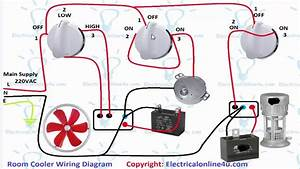 Air Room Water Cooler Wiring Diagram  Urdu  Hindi