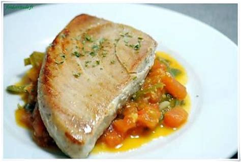 comment cuisiner du thon frais recette de thon albacore à l orientale