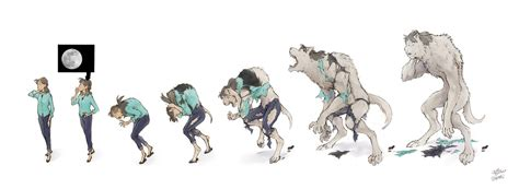 Megumi Werewolf Transformation Sequence By Pakeet On