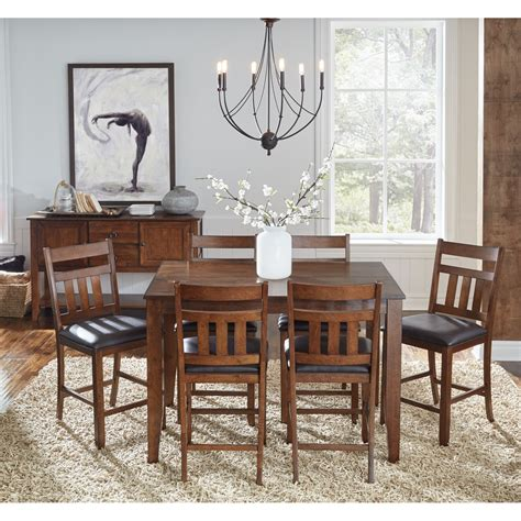 gathering dining tables aamerica 7 gathering height table and chair 1200
