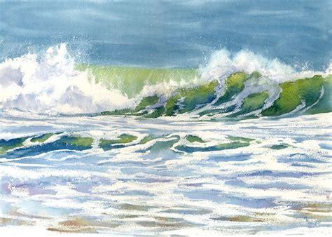 beach  ocean watercolor images  pinterest