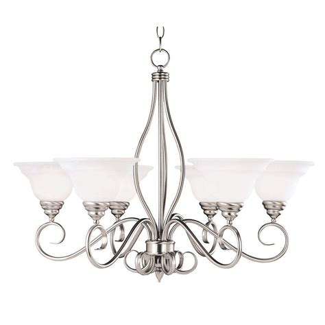 Pewter Chandelier by Illumine 6 Light Pewter Chandelier With White Faux