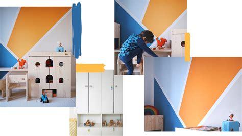 Wandgestaltung Kinderzimmer Orange by Wandgestaltung Im Kinderzimmer Eine Kunterbunte