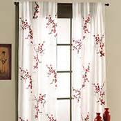 asian bedroom cherry blossom curtain panel set from