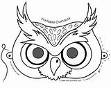 Coloring Mask Owl Halloween Pages Masks Printable Colouring Template Patterns Faces αποκριάτικες Craft sketch template