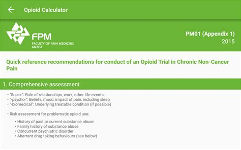 Opioid Calculator Android Apps Google Play