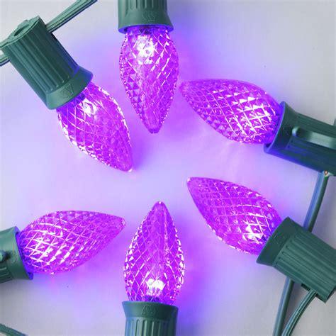 purple 3 led c7 faceted christmas light bulbs e12