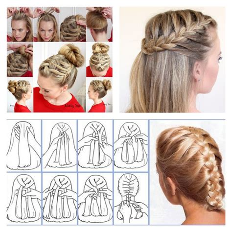 stylish french braid hairstyle tutorials beesdiycom