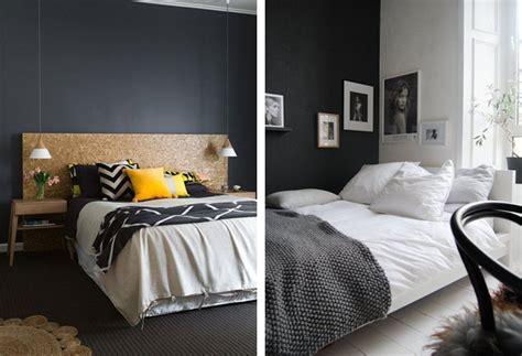 couleur mur chambre adulte du noir sur les murs blueberry home