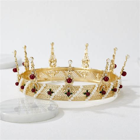 SV Baroque Queen Crown in Alloy at $18.99 Gold | SWEETV