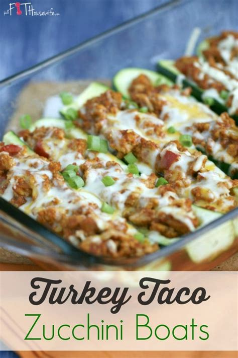 Easy Zucchini Taco Boats by 13 Delicious And Healthy Ground Turkey Recipes