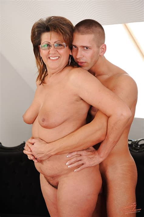 Chubby Granny In Glasses Has A Hardcore Sex With A Younger