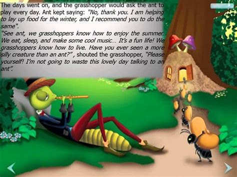 fable the grasshopper and the ants