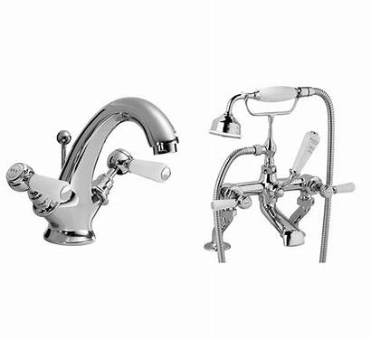Taps Bath Lever Mixer Shower Traditional Basin