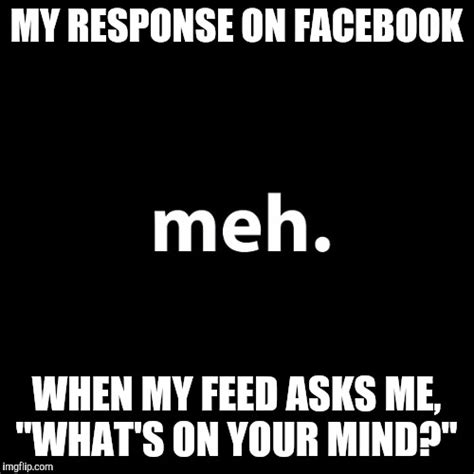 Response Memes - image tagged in facebook meh funny memes truth imgflip