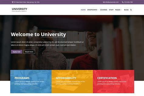 university bootstrap  education template sass sources