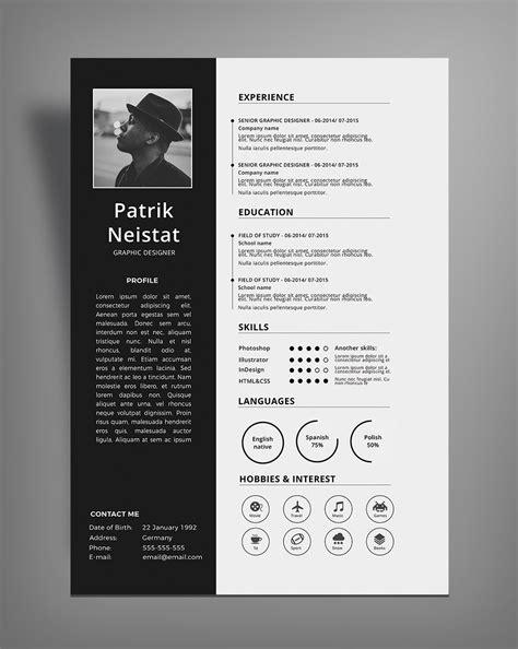 simple resume cv design template  psd file good resume
