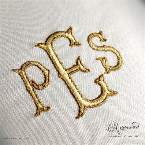 fancy fishtail monogram alphabet  border  sizes