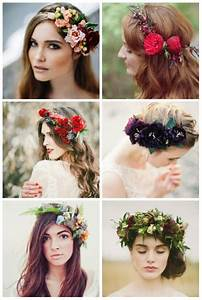 Couronne De Fleurs Mariée : coiffure de mari e pour l 39 automne tendance hippy chic ~ Farleysfitness.com Idées de Décoration