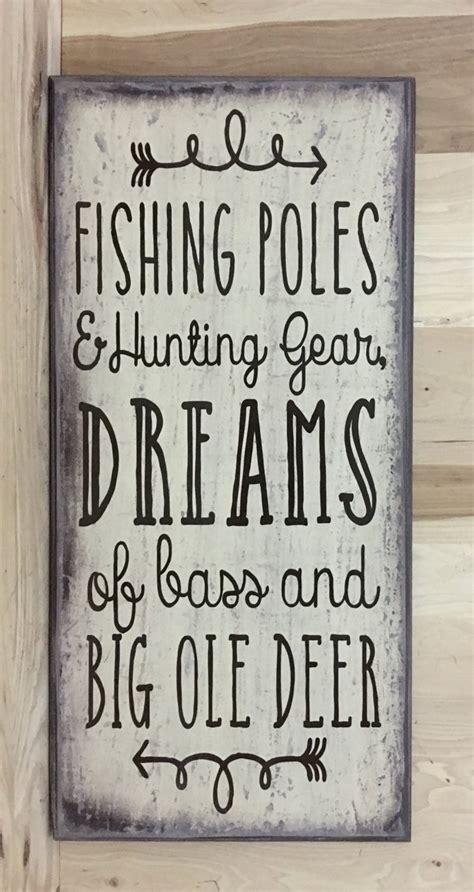 Fishing Decor Fishing Wood Sign Hunting Decor Father's