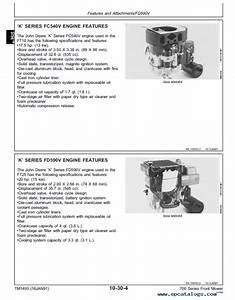 John Deere F710 F725 Front Mowers Tm1493 Pdf Manual
