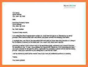 9 sample appeals letter