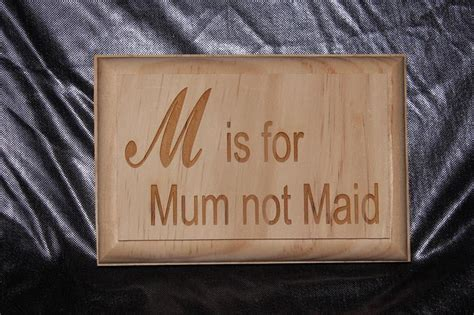 small wooden plaque m is for mum colac gifts and engraving