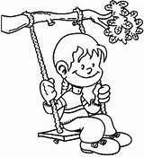 Swing Coloring Pages Tree Swings Playground Printable Getcoloringpages Getdrawings Drawing Getcolorings Template sketch template
