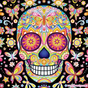 Thaneeya McArdle's Tumblr • This smiling sugar skull was ...