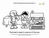 Coloring Bread Cooking Chef Solus Baking Sheets Pages Fun Baked Sheet Class Children Ready Kitchen Printables Nourishinteractive Printable Cook Younger sketch template