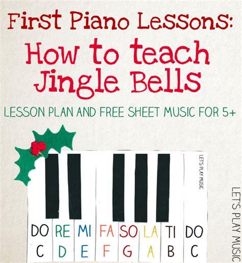 jingle bells  easy piano sheet  lets play