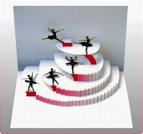 pop up 3d karte tanzen grusskarte geburtstag gutschein ballet tanzschule 16x11cm 509006