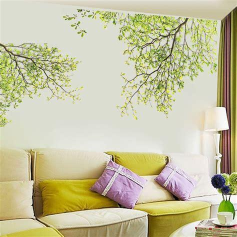 Wandgestaltung Kinderzimmer Blumen by Wandtattoo Xl Pflanze Schmetterling Blumen Wandaufkleber
