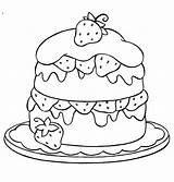 Cake Coloring Pages Strawberry Cute Birthday Printable Drawing Cartoon Cakes Colouring Sheets Tocolor Print Ausmalbilder Kinder Malvorlagen Friendship Dash Pony sketch template