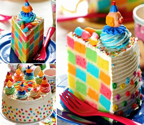 checkerboard rainbow cake pictures