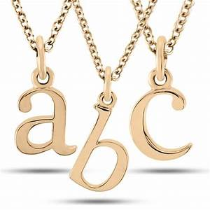 lower case block letter single initial pendant necklace With single letter necklace