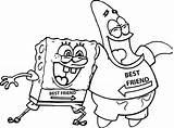 Coloring Friends Spongebob Tom Patrick sketch template
