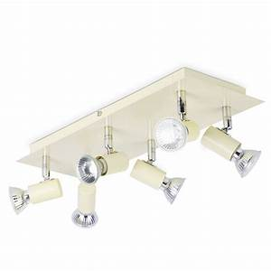 Modern gloss cream and chrome way kitchen ceiling spot