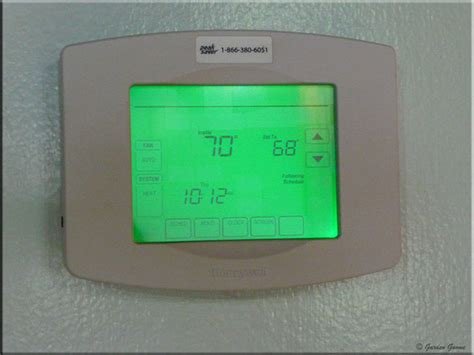 garden gnome at home new honeywell utilitypro programmable thermostat installed