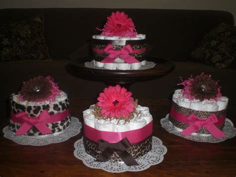 Cake Centerpieces For A Baby Shower by Leopard Or Cheetah Cake Baby Shower Centerpieces
