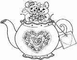 Coloring Pages Tea Kettle Teapot Adult Disney Pyrography Patterns Sketch Little Sketchite Memory Template Cup Colour Drawings Simple Kettles Sketches sketch template