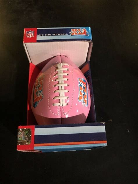 Rare Super Bowl Xli South Florida Pink Mini Football