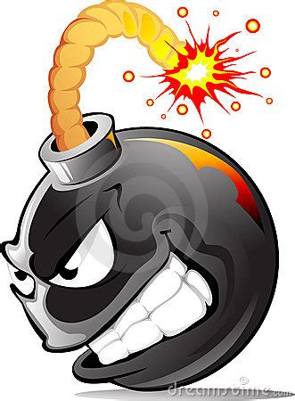 cartoon evil bomb royalty  stock images image