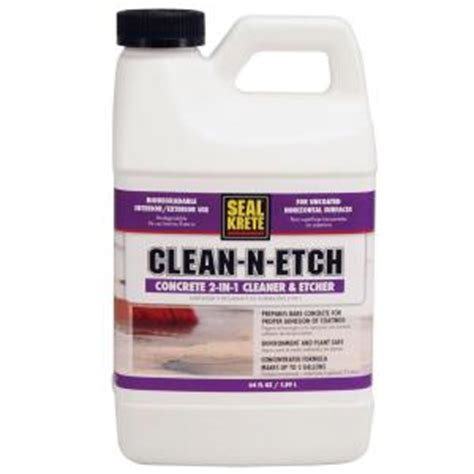 what is the best degreaser for kitchen cabinets seal krete 64 oz clean n etch etching solution 411000 9929