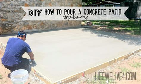 diy concrete patio diy pouring a concrete patio